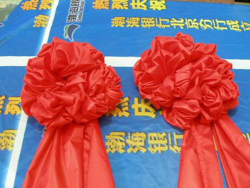 厂家订做大红花专业大红花制作